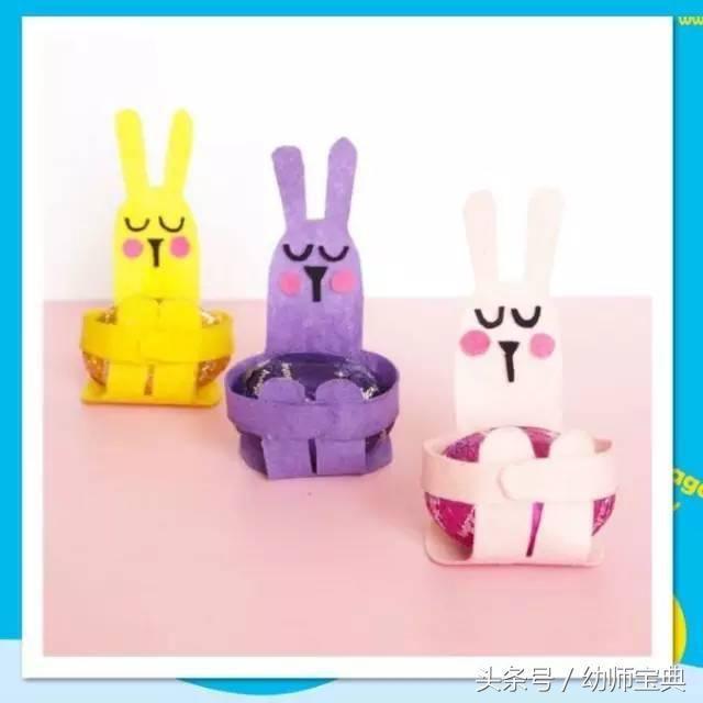 手工卡纸制作做小兔子头饰图片