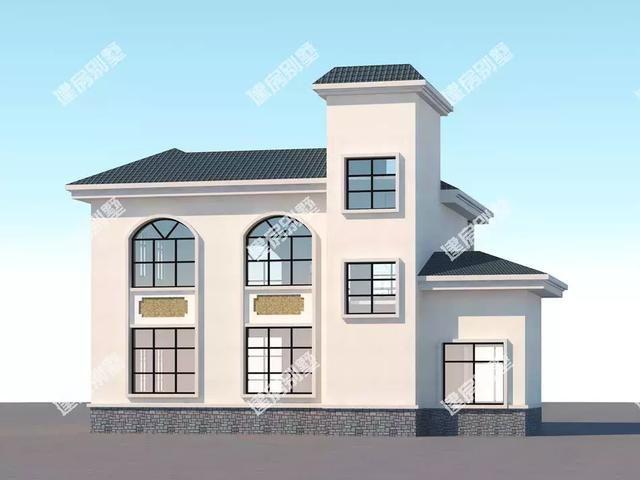 屋顶的设计形式有平顶也有斜屋面,这样设计有很多的优势,不仅漂亮