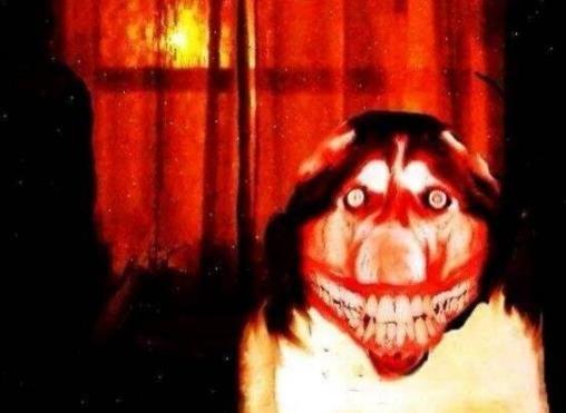 微笑狗恐怖图片曝光
