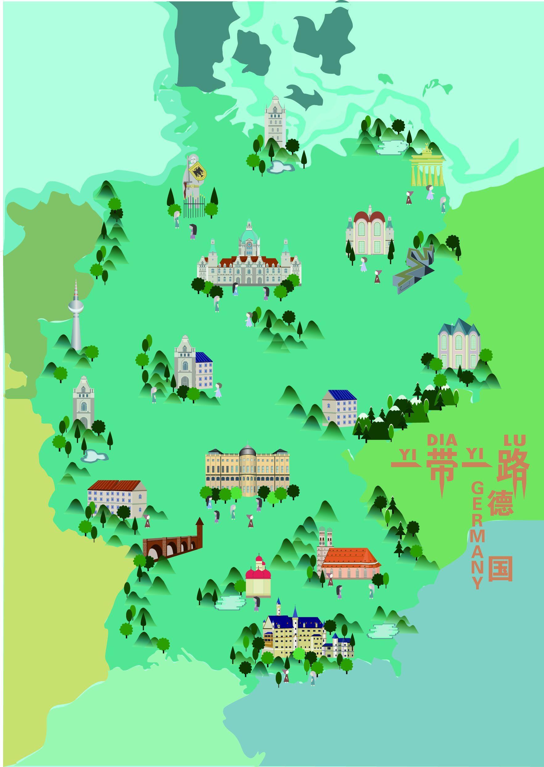"""武汉大学生手绘""""一带一路""""城市地图,精确到小岛海岸线"""