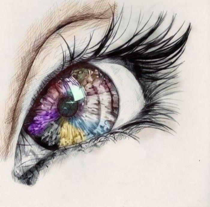 十二星座最美的手绘眼睛,天秤座的眼睛会说话