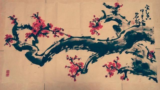 一剪寒梅傲水墨:写意梅花情趣女画家李岩梅ml多少风霜合适灌肠图片