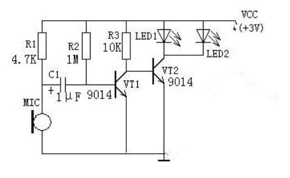 科技 正文  上图是两个声控led灯电路板,它随着说话,音乐等的外接声音