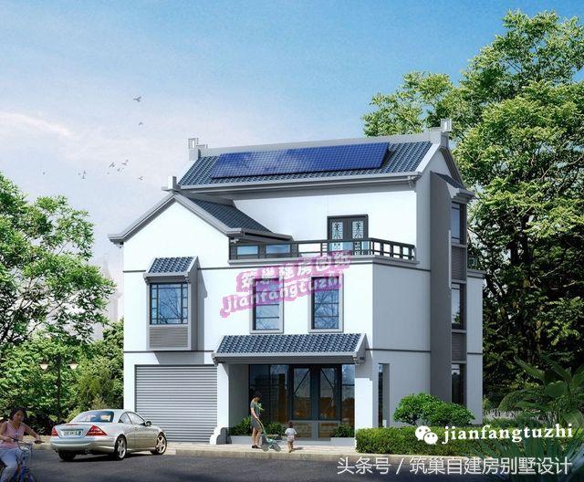 二层半新中式自建房别墅(全套方案效果图施工图)