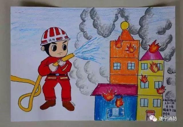 儿童消防安全简笔画 免费儿童消防安全简笔画图片
