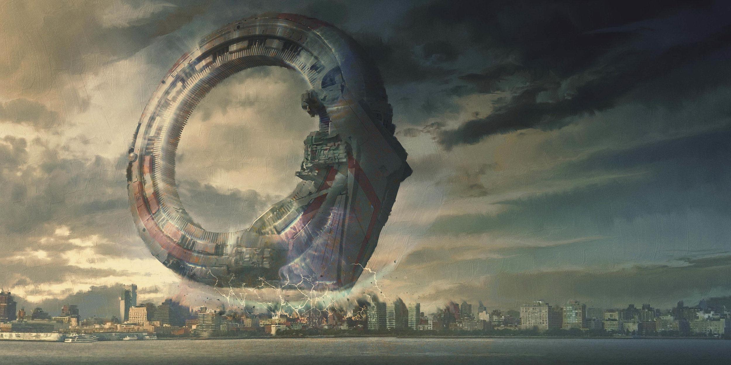 《复仇者联盟3:无限战争》未曝光的外星飞船舰艇和纽约圣所