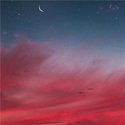 原宿风天空唯美风景微信头像