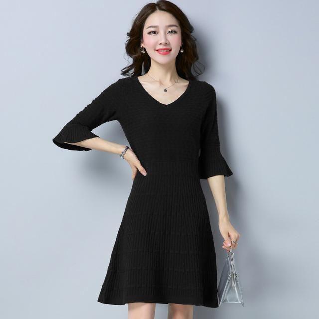 谁说胖MM不穿毛衣?宽松裙子裙,轻松穿出模店验有情趣用品孕图片