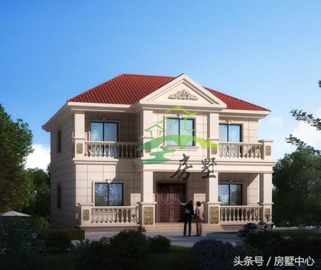 大胆创别墅才会大栋_一栋精美两层别墅设计送给大家,附带免费建筑图纸!