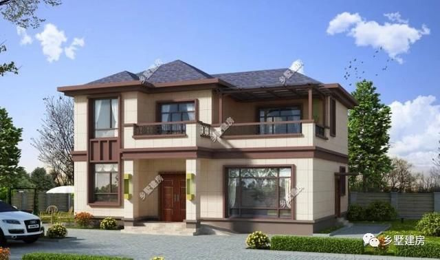 新中式农村二层别墅,6室1厅4卫,这样的小户型你也心动