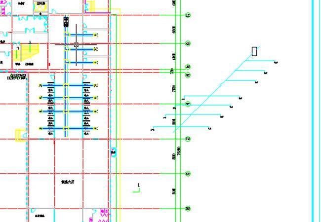 CAD暖通中生成通风空调系统图和剖面图的操cad插入gif图片