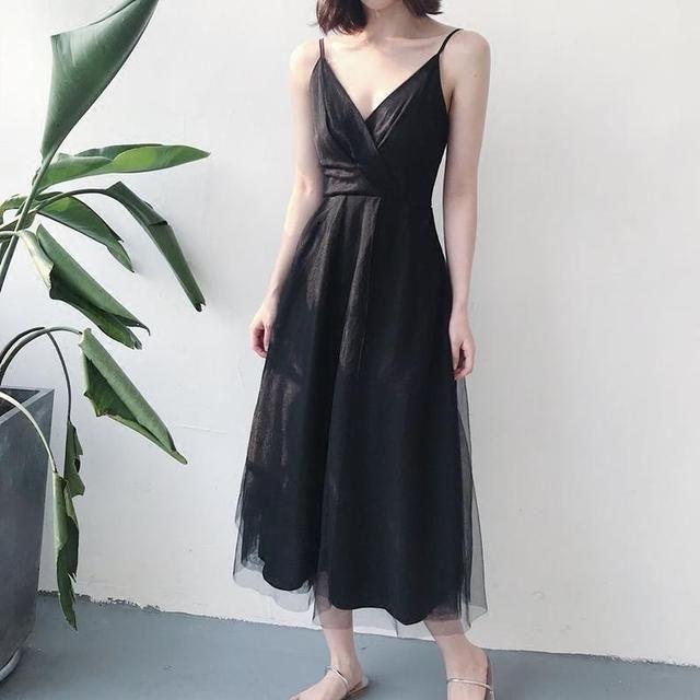 2018夏季新款吊带连衣裙,内搭&外穿