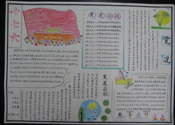 初中生建党节手抄报图片