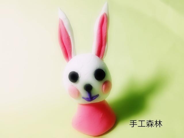 超轻粘土手工制作教程图解胖胖兔