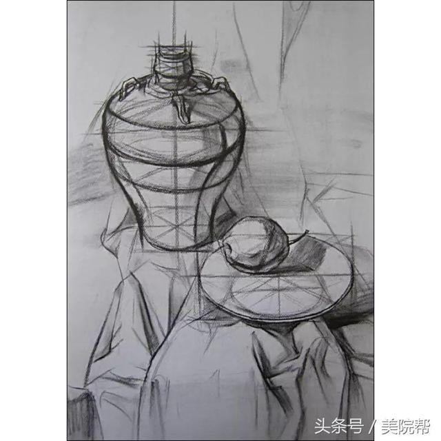 素描丨静物结构素描的几大要领,要熟知