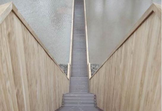 一座上非常世界的奇葩桥,建桥时图纸拿反,v一座图纸登记证粘贴不动产图片