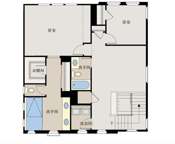 新农村自建房别墅10米x10米,带双车库含平面图纸