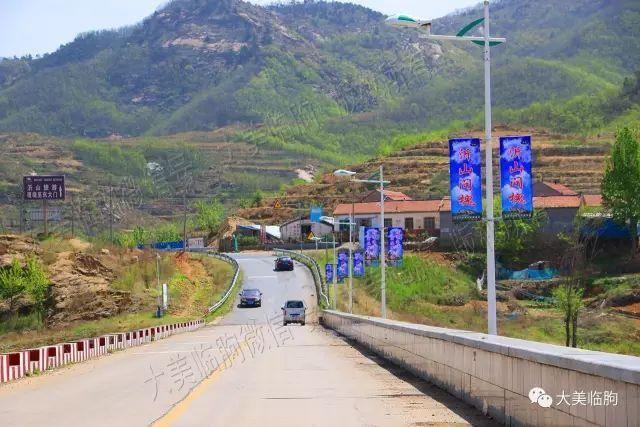 (进村需要经过沂山国家森林公园的大门,村庄就在这个大门的南边)