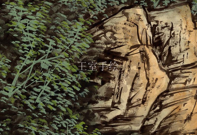 手绘墙纸在新中式装修风格中的运用