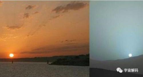 为什么地球上的落日是红色的火星上是蓝色的