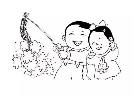 春节简笔画图片大全_春节图画大全儿童画