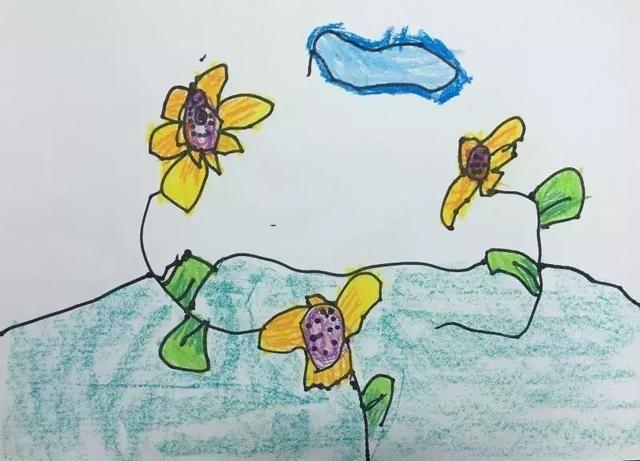 儿童画画一年级飞机