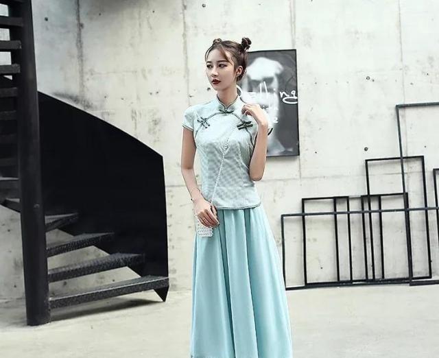 时尚清新棉麻套装旗袍,优雅动人,夏季精选!