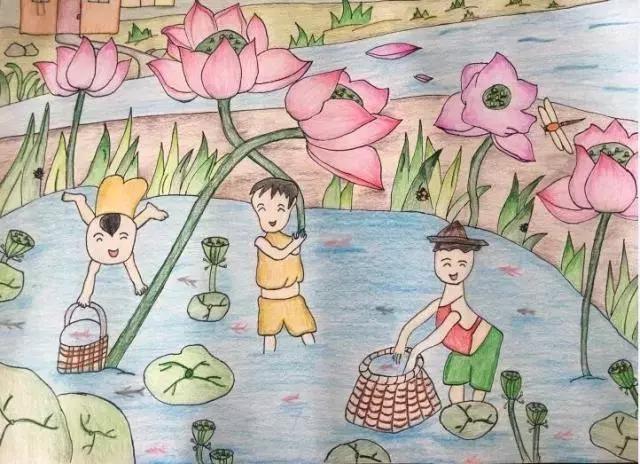 童画新时代 手绘价值观我的家乡这么美,你不来看看吗?