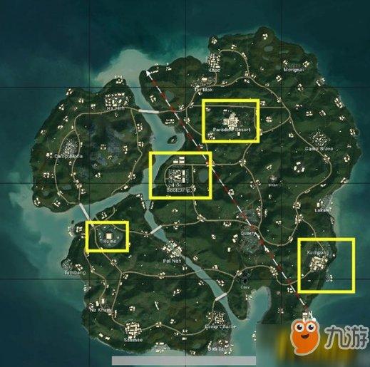 绝地求生新地图萨诺分布在哪儿_萨诺哪些地点资源多