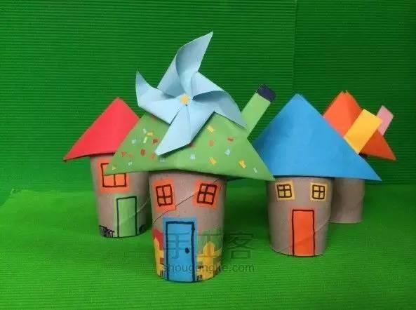 看看这个超级简单的纸巾筒做的蘑菇小房子,还有其它蘑菇手工, 是不是