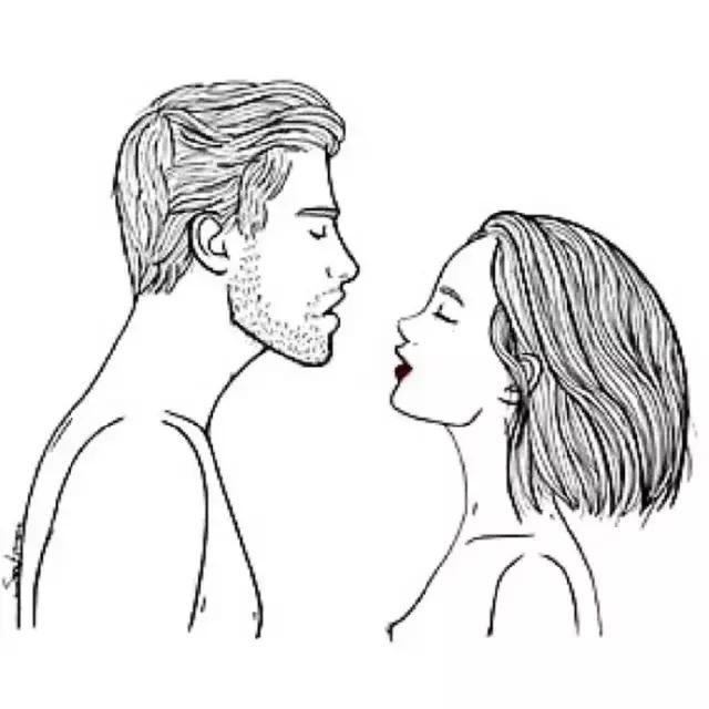 情侣牵手简笔画