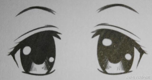 眼角会蓄满泪水,眉毛向下拉.图片