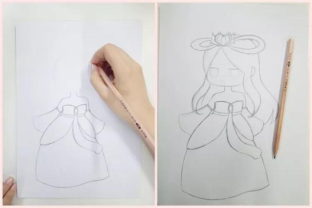 绘画教程  2招教你画q萌小罗丽