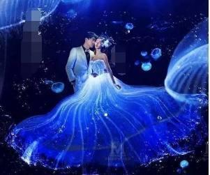 二星座专属梦幻婚纱,水瓶座像夜空中的星星,摩羯座优雅华丽