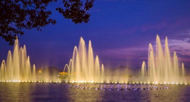 国内最美的十大音乐喷泉,西湖音乐喷泉位列榜首!