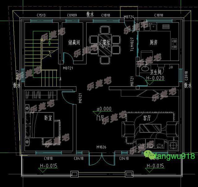 3款标书实用图纸自建房二层设计别墅房屋图纸有里面经典吗施工农村图片