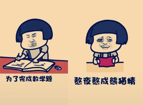 搞笑熊猫封面:为了完成数学题,我已经熬微信表情男头像搞笑表情图片
