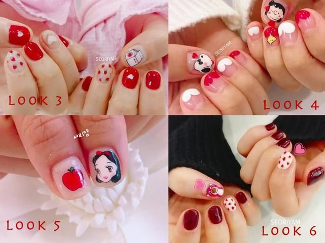 红色指甲有助增强桃花运!红而不俗的新春美甲!