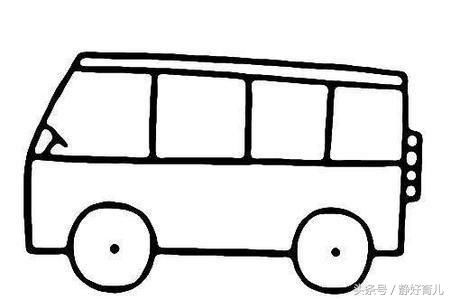 8款汽车主题简笔画,家长请收好!助孩子认知汽车结构与