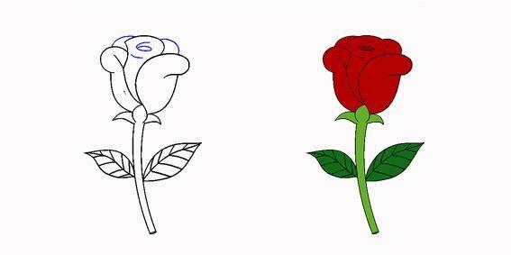 以下是玫瑰花详细的步骤教程,用心画才是真表白,让爱永不凋谢! 加油!