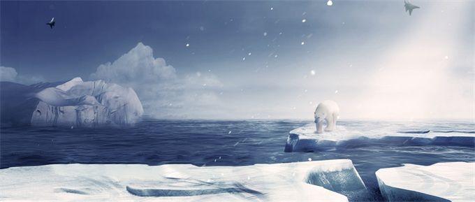 北极圈高温创纪录 热浪融冰!