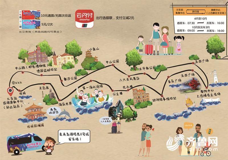 畅游老青岛!两条旅游观光线开通 可穿越近百景点(线路