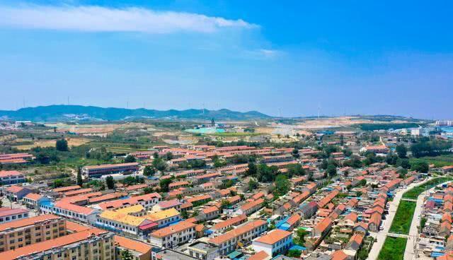 航拍蓬莱大柳镇,黄金产业发达,产金量列全国产金大镇前三位