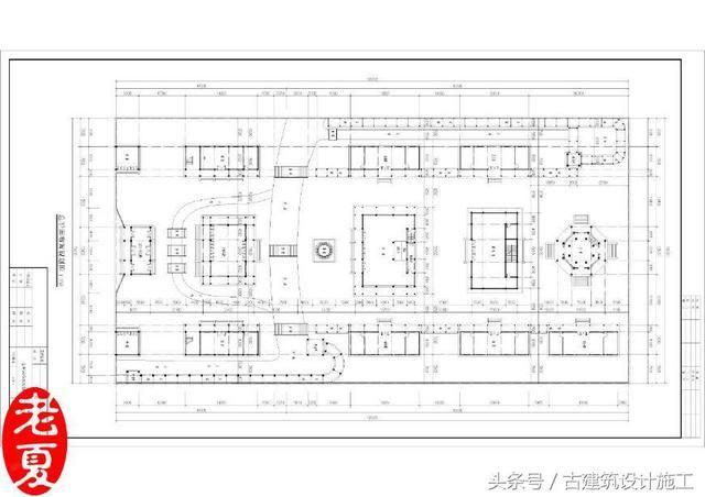 大气磅礴 古建筑平面图设计,古建筑规划设计,古建筑效果图施工图设计