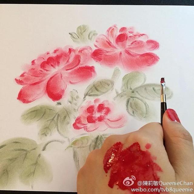 古典油画花卉作画步骤