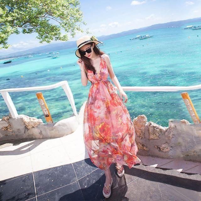 海边游时髦沙滩裙筑倾城