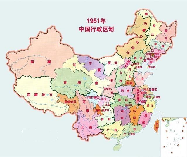 建国以来中国行政区域划分地图