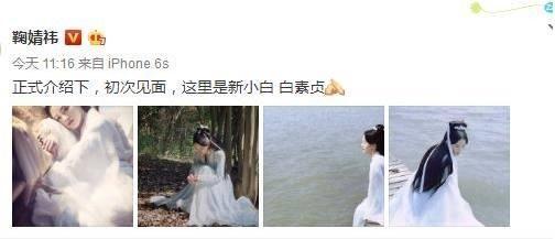 鞠婧祎版白素贞曝光 网友:这不是白浅姑姑的发型吗图片