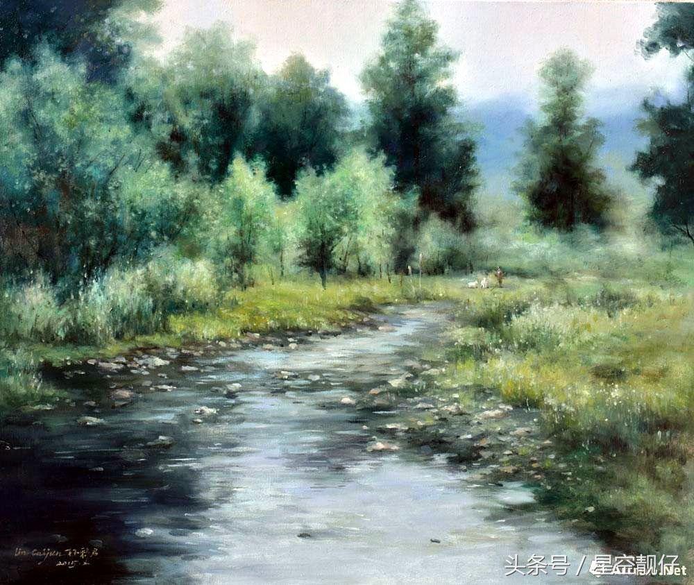 宁波市女美术家协会副主席林彩君风景油画作品