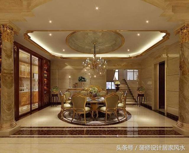 贵阳中航城云墅别墅豪华欧式风格装修设计效果图!